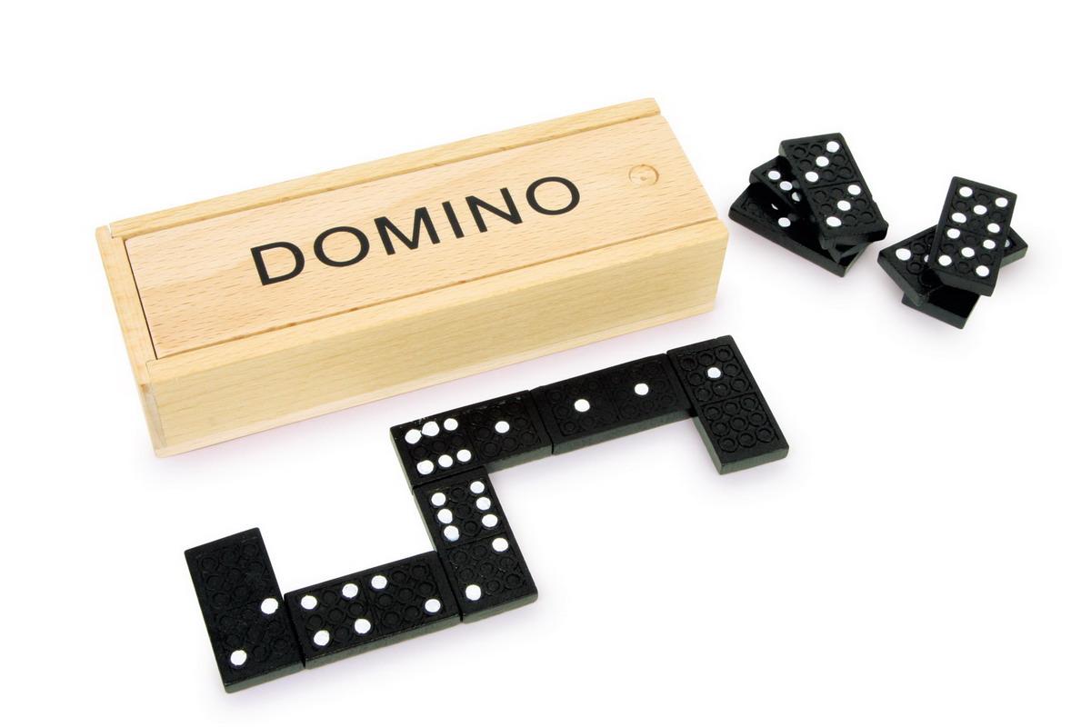 Domino dřevěné klasic černé