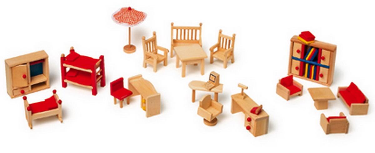 Nábytek pro panenky dřevěný zahradní