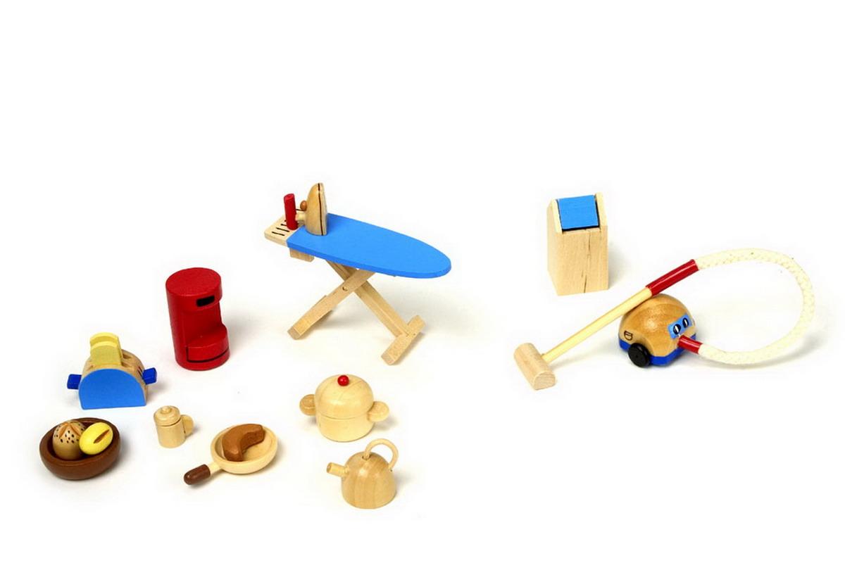 Nábytek pro panenky dřevěný kuchyňské spotřebiče