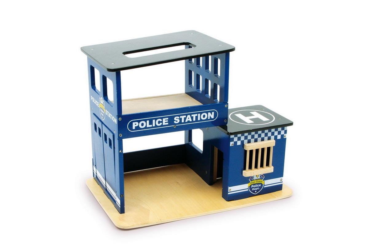 Policejní stanice dřevěná dětská