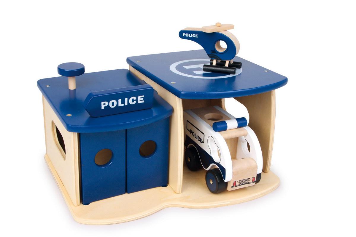 Policejní stanice dřevěná dětská malá