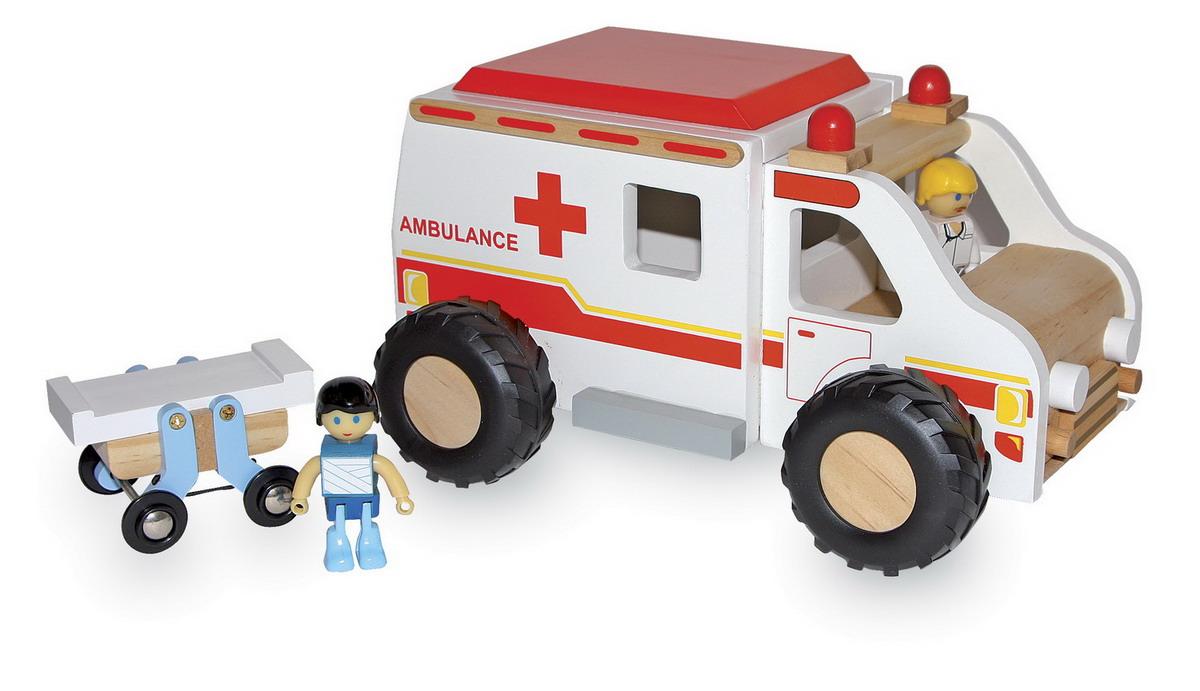 Auto - sanitka dětská dřevěná