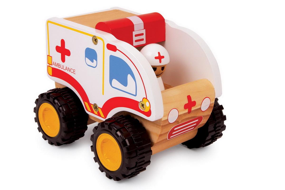 Auto - sanitka dřevěná malá