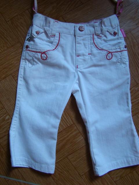 Dívčí džíny bílé Pampolina