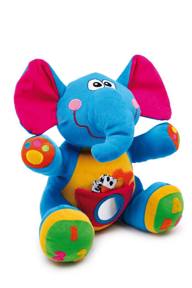 Plyšový slon barevný Linus