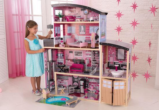 Dřevěný domeček Kidkraft - třpytivé panenky