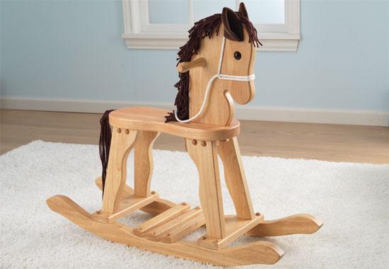 Dřevěný houpací kůň - doprava zdarma