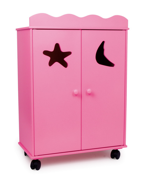 Skříň šatní pro panenky růžová