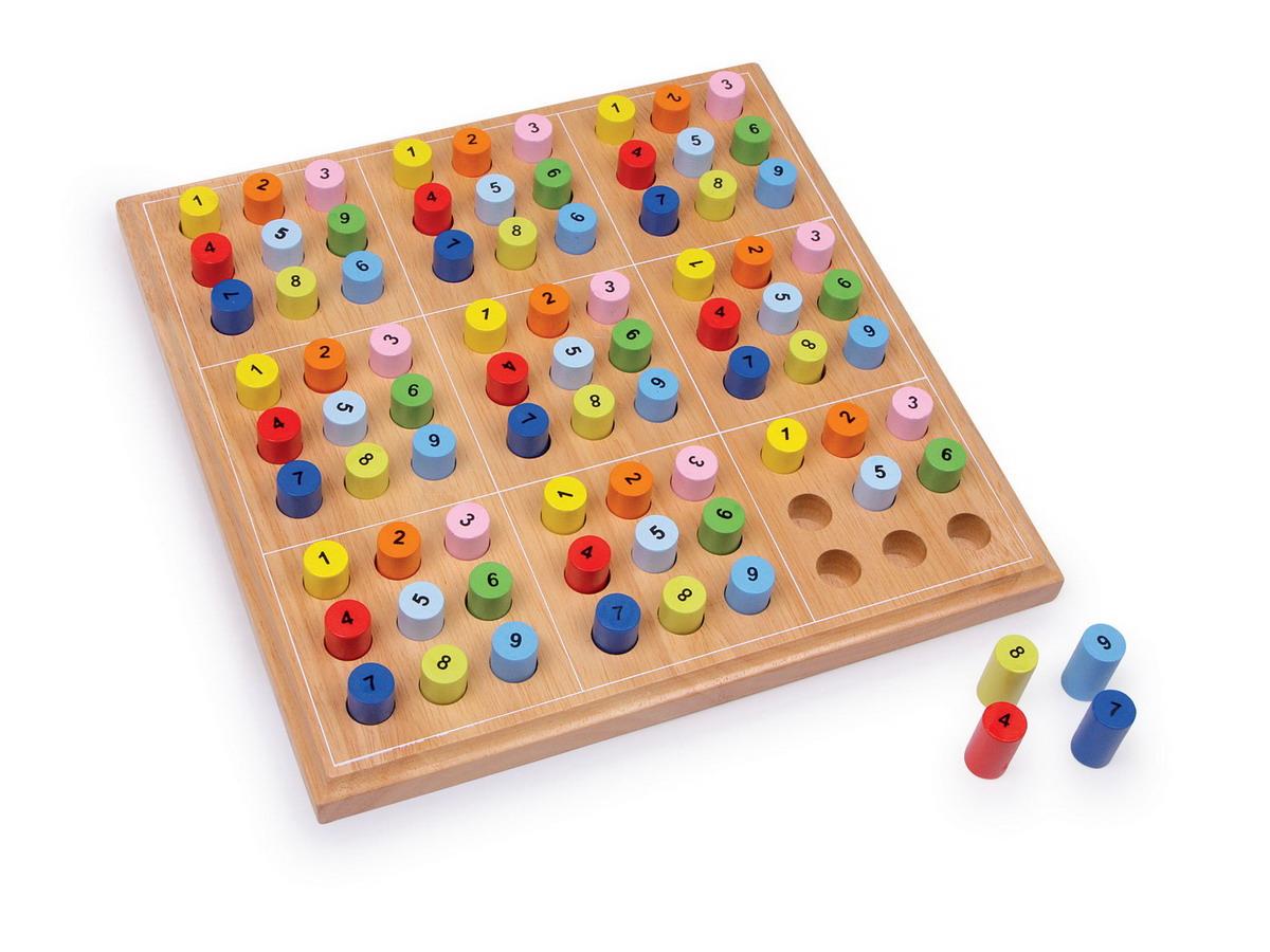 Sudoku dřevěné barevné