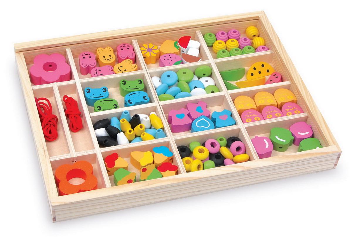 """Korálky dřevěné - navlékací box """"Julia"""""""