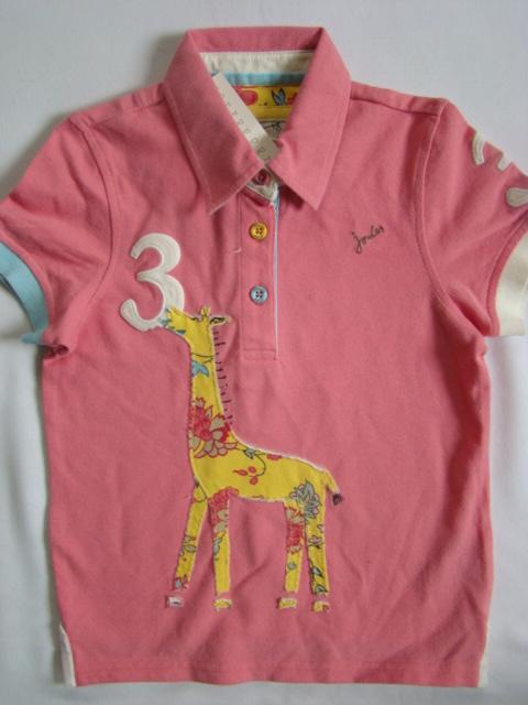 Dívčí pólo triko Little Joule se žirafou
