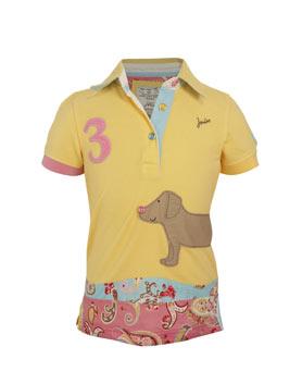 "Dívčí pólo triko vel. 104 LJ ""pejsek"""