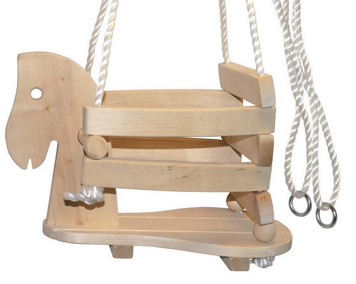 Houpačka dětská dřevěná - koník