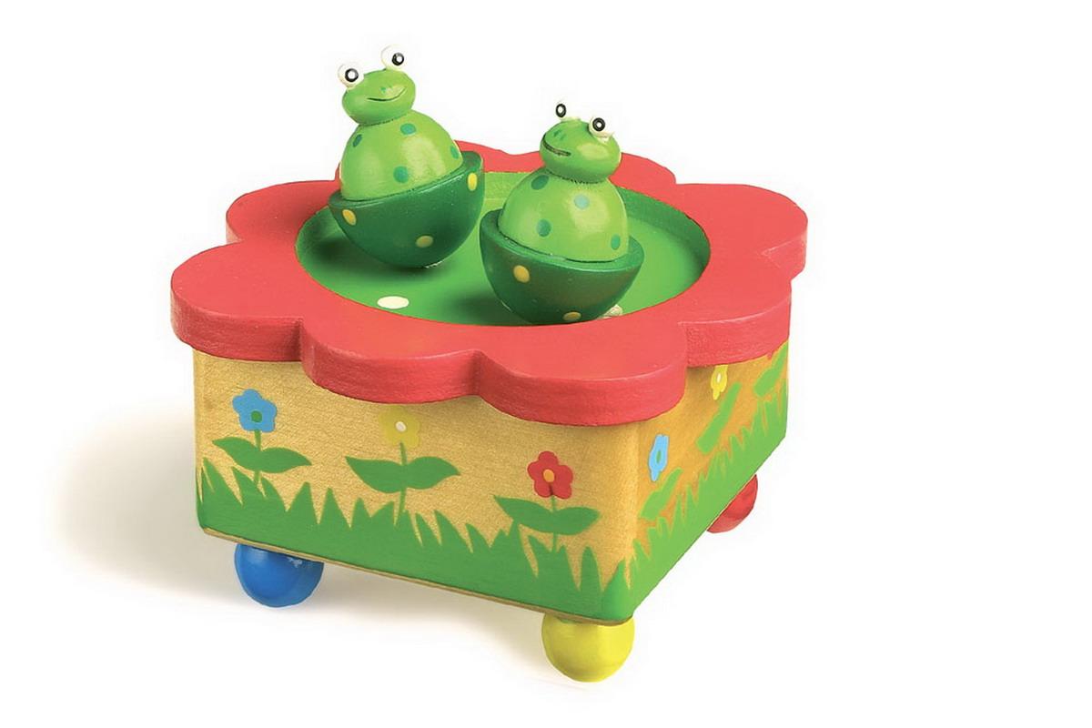 """Hudební - hrací skříňka """"žabky"""""""