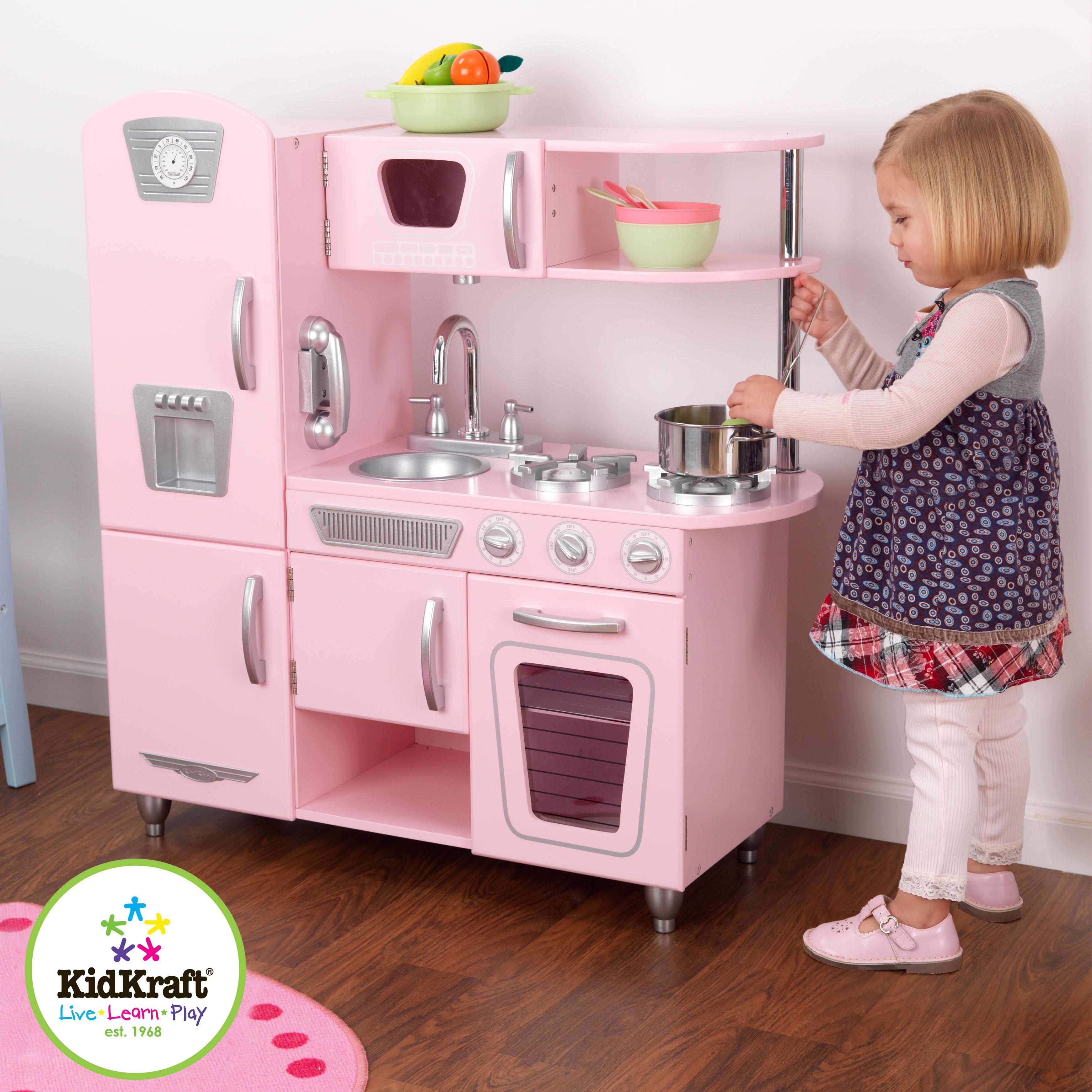 Dětská kuchyňka retro růžová