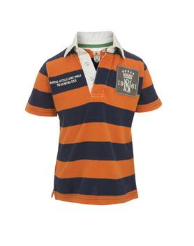 Chlapecké pólo triko LJ oranž.modrý proužek