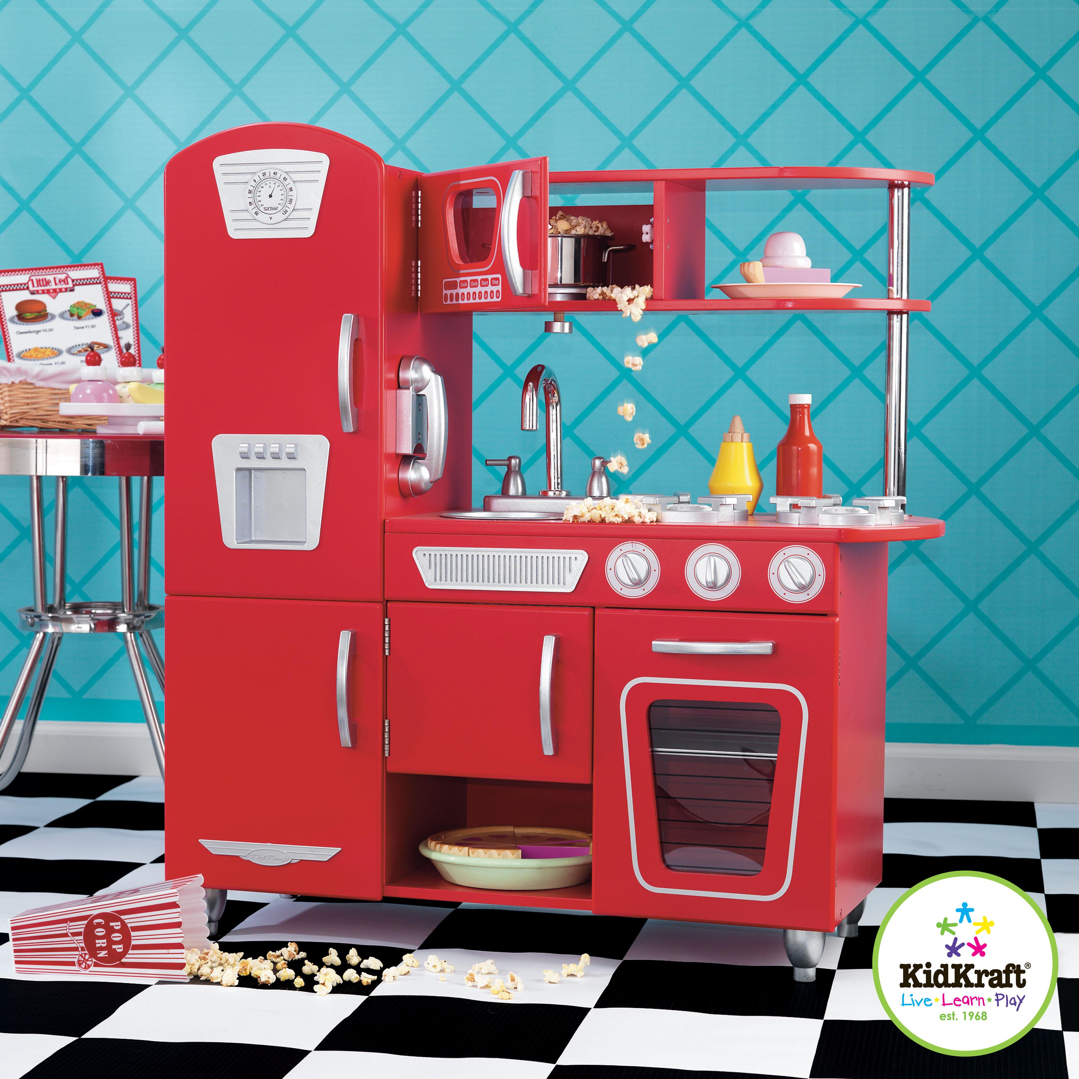 Dětská kuchyňka retro červená