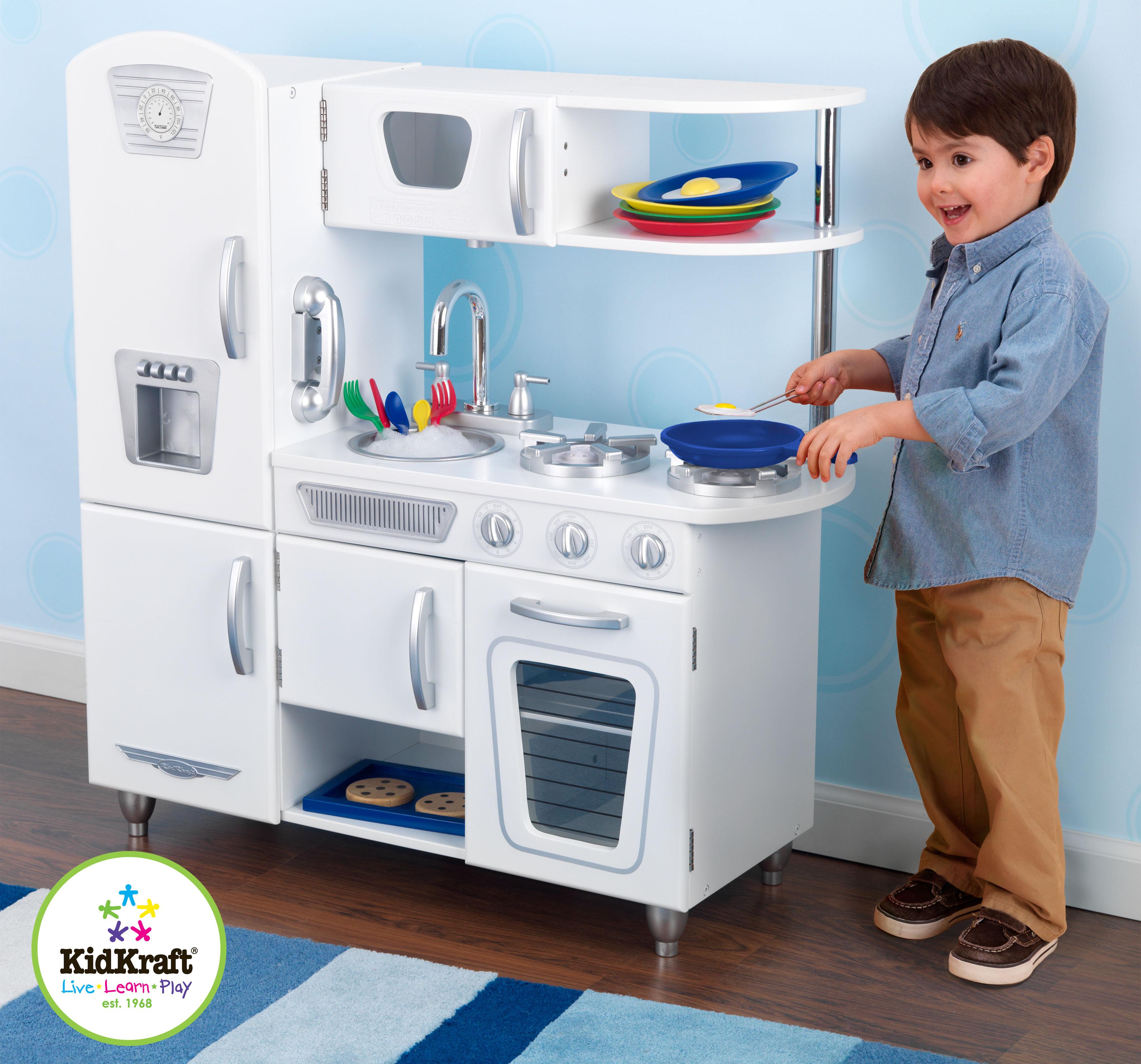 Dětská kuchyňka retro bílá