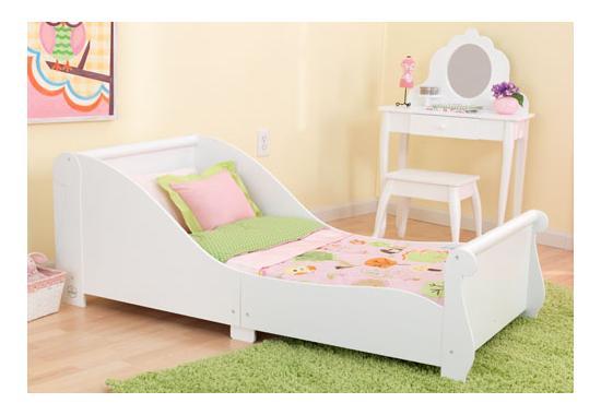 Dětská postel dřevěná bílá