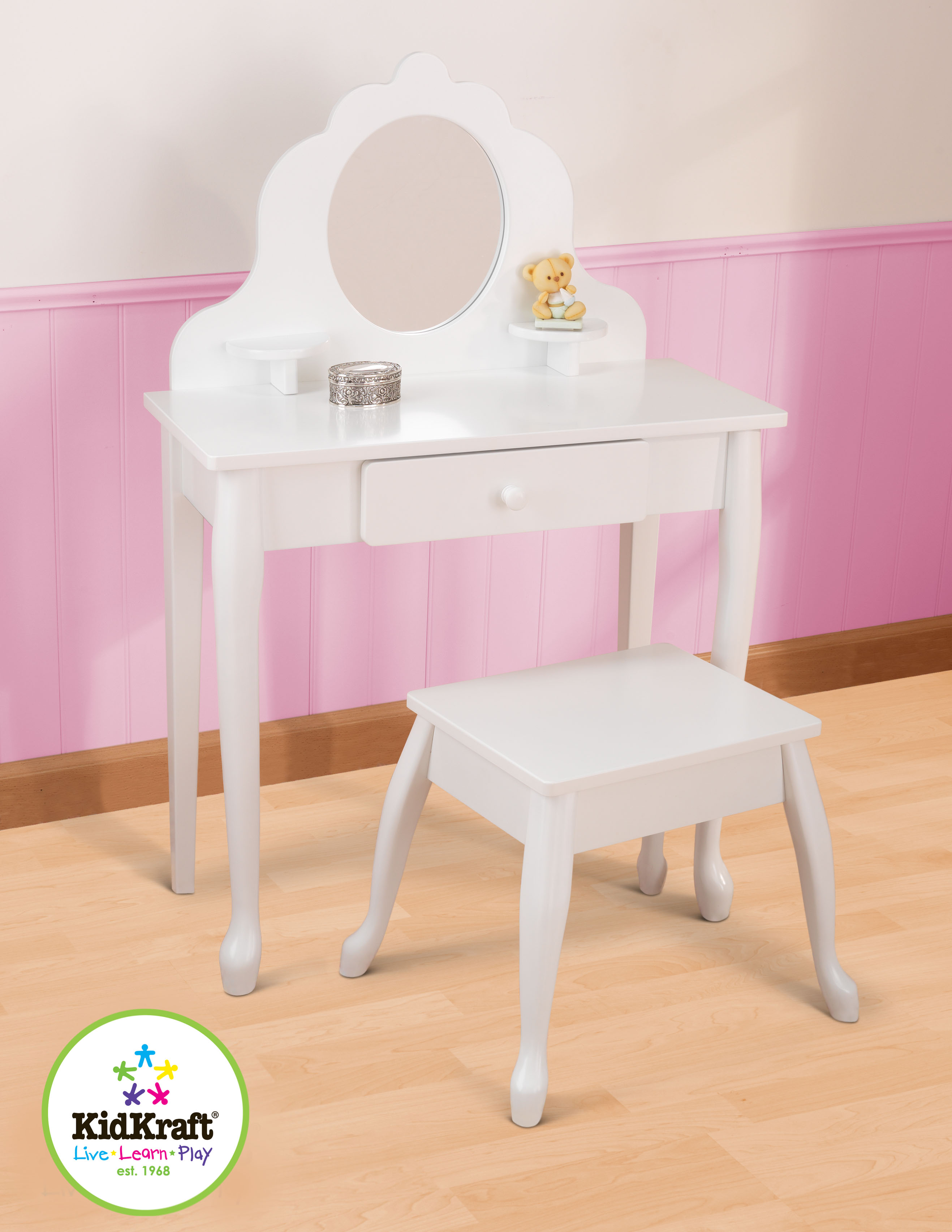 Kidkraft toaletn najduzbo cz for Meuble coiffeuse fille