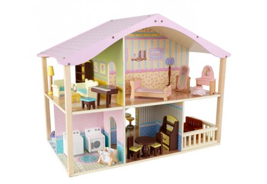 Domeček pro panenky pastelový