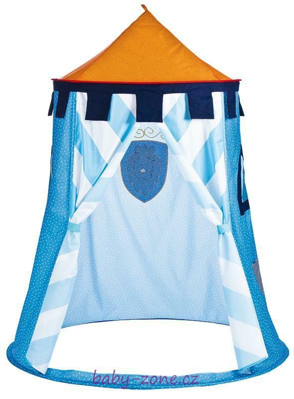 Dětský stan na hraní - modrý (190x150 cm)