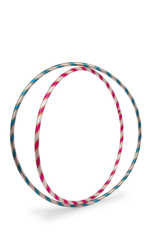 Obruč Hula Hoop třpitivá modrá nebo růžová