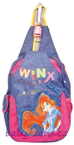 Dívčí batoh - monostrap Jeans Bloom, WINX