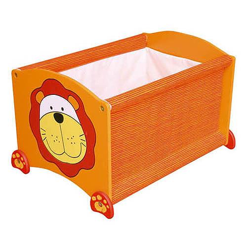 Dětská krabice na hračky - úložný box lev