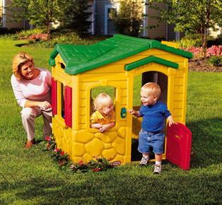 Dětský zahradní domeček plastový ze zvonkem