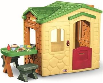 Dětský zahradní domeček plastový s piknikovým stolkem