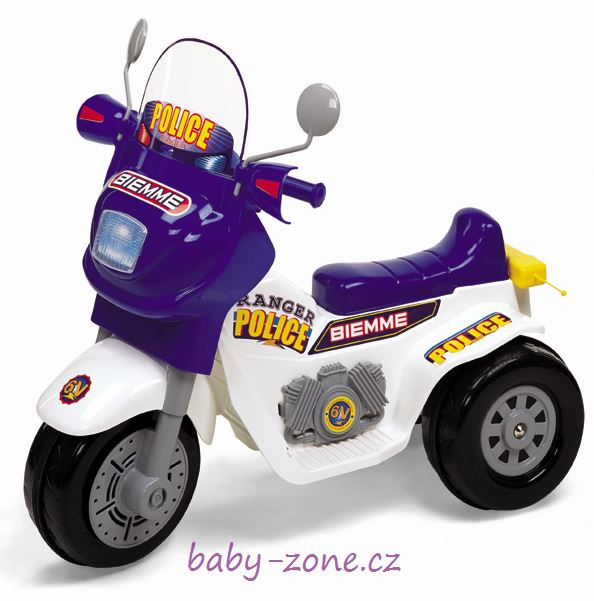 Elektrická motorka Ranger policie 6V