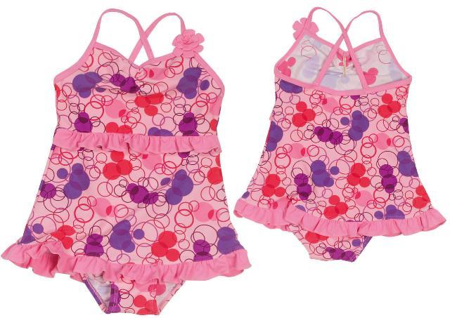 Dětské plavky s UV ochranou jednodílné dívčí