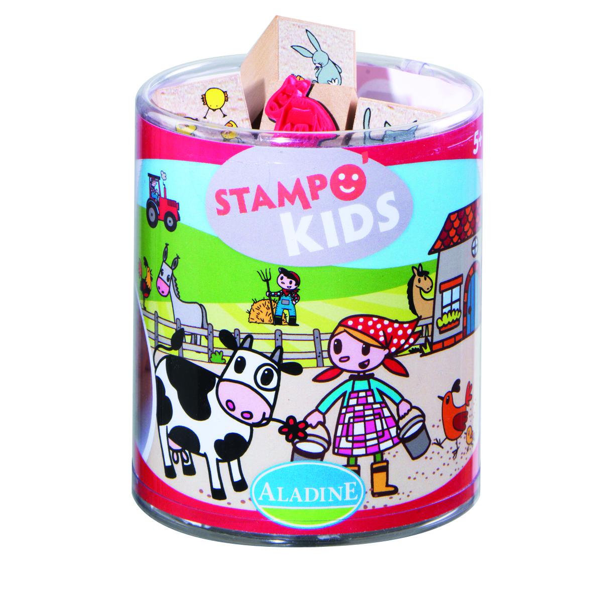 Razítka pro děti, miška Lily na farmě, StampoKids