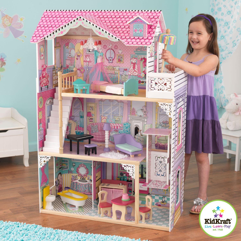 Dětský dřevěný domeček pro panenky Annabelle - doprava zdarma