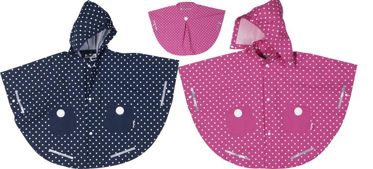 Pláštěnka - nepromokavá pončo bunda - puntík