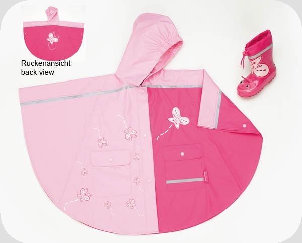 Pláštěnka - nepromokavá pončo bunda motiv motýl