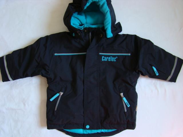 Dětská zimní bunda nepromokavá modrá a fialová