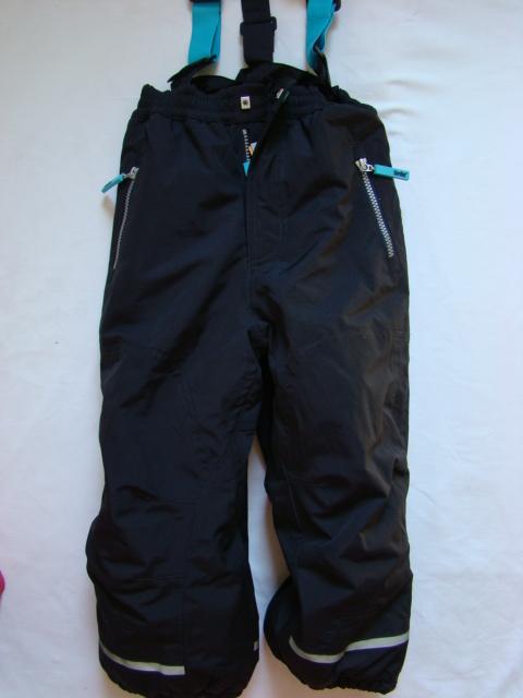 Dětské zimní, lyžařské kalhoty modré a fialové