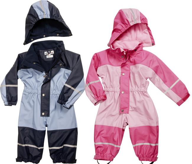 Dětský nepromokavý overal-souprava podšitá fleecem