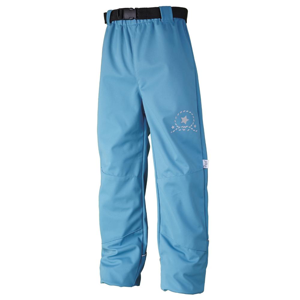 Dětské kalhoty softshell Little Angel modré a tyrkysové
