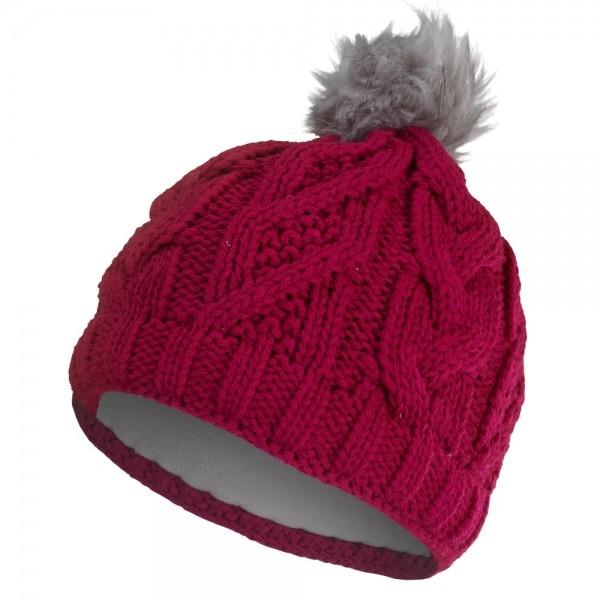 Čepice pletená vzor copánek růžová Outlast vel.4-5