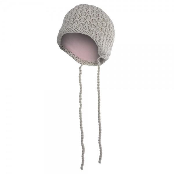 Čepice pletená zavazovací drobný vzor Outlast vel.1-2 béžová