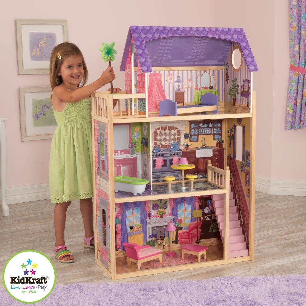 Dřevěný domeček pro panenky Kayla včetně dopravy