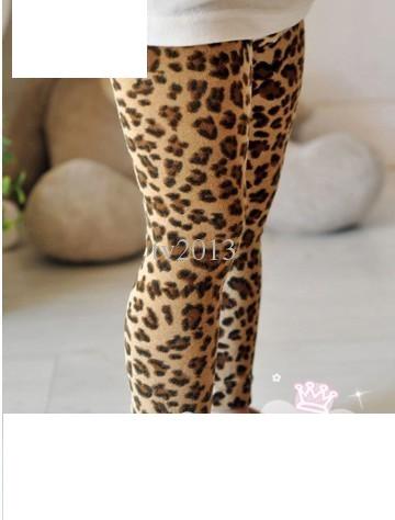 Dívčí legíny s leopardím potiskem