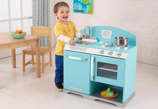 Dětská kuchyňka retro modrá