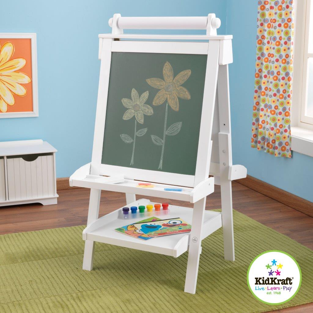 Tabule na kreslení - malířský stojan dřevěný bílý