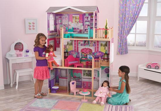 Dřevěný domeček pro panenky - vila