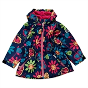 Fotografie Dívčí softshellová bunda s potiskem květin