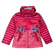 Dívčí nepromokavý pruhovaný kabátek
